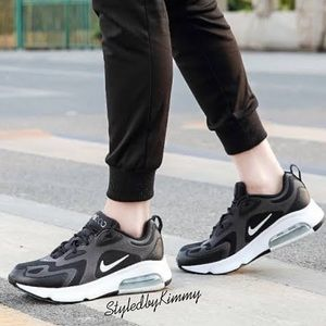 NIKE AIR MAX 200 Sneakers Shoes New Black White